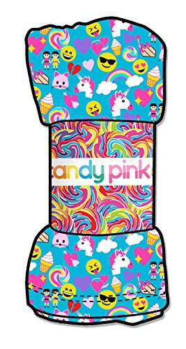 Candy Pink Emoji Blanket Throw Blanket-Aqua