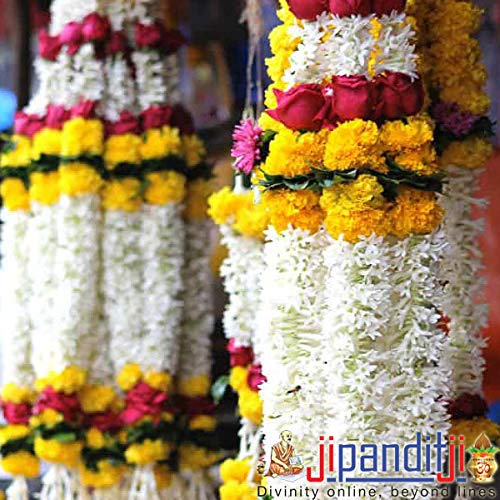 Buy JiPanditJi Marigold/Gainda Flower Garland/Mala Online at Low Prices in  India - Amazon.in