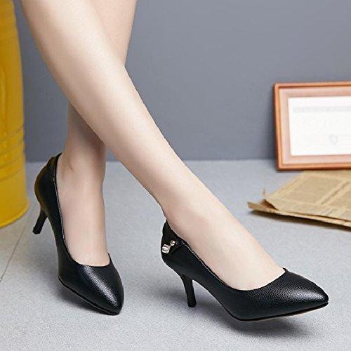 GAOLIM Zapatos De Mujer Primavera De Punta Fina Con Singles Femeninos Zapatos Bajos Con Colores Sólidos Zapatos De Mujer Cómodos Zapatos De Mujer Mujer Negro