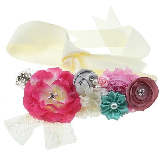 c89da998df Lovemyangel Bridal Sash Belt Bride Maternity Satin Flower Ribbon Sash Baby Girls  Dress Accessories for Wedding
