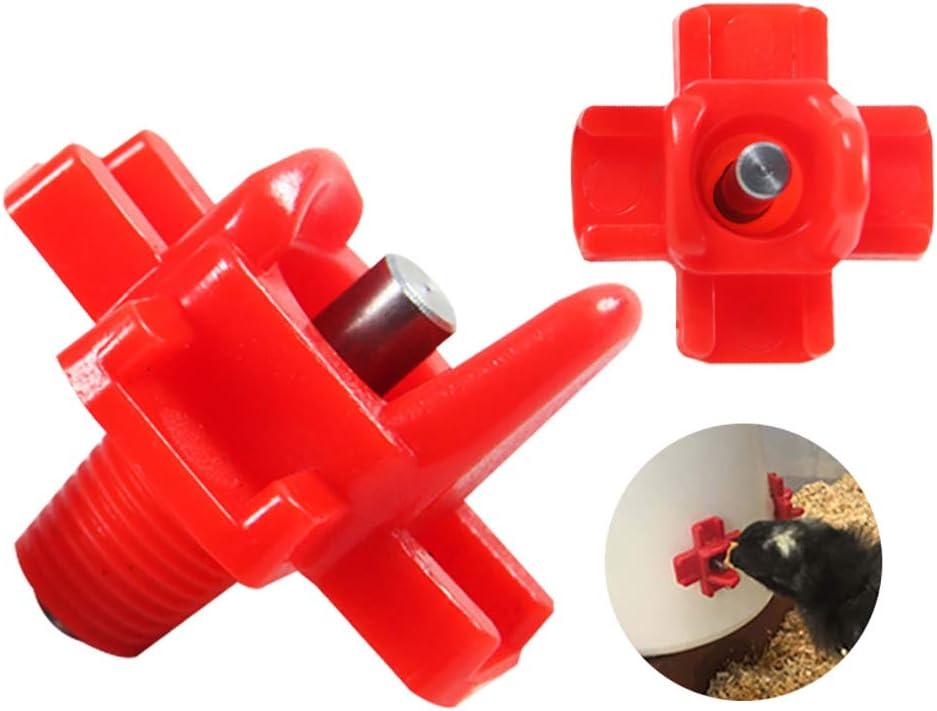 TopHGC 12 Piezas de Agua de Pollo automática,comedero para pájaros, máquina expendedora