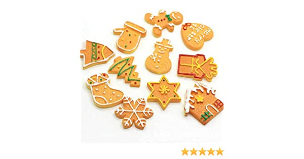 Assorted Christmas Flatback Resin Cabochons Holiday Kawaii Cabochons Decoration