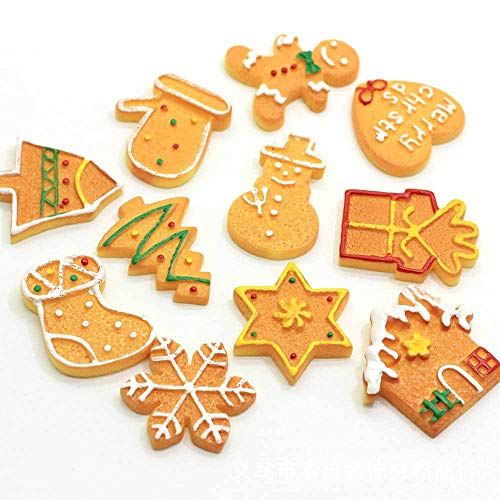 Wayees Resin Flatback Charms Miniature Christmas Ornaments Advent Calendar Fillers Holiday Decorations Crafts DIY Cards Sand Snow Globes Christmas Village Snowman Decoden Scrapbooking Embellishment