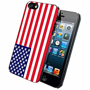 American Flag With Marijuana Case Back Cover (iPhone 5/5s - Plastic)