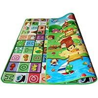 2 X 1.8m Kid Baby Play Mat Floor Activity Happy Farm Rug Child Crawling Carpet