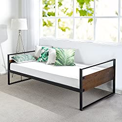Zinus Ironline Twin Daybed Frame/Premium Steel Slat Support