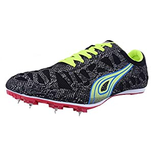 Women's Men's Track and Field Sneaker Spikes Track Shoes Athletics Racing Distance Sprint Running High Jump Shoes for…