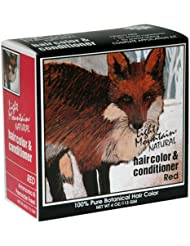 Light Mountain Natural Hair Color & Conditioner, Red, 4 oz (113 g) (Pack of 3)