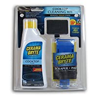 Cerama Bryte 27068 0 10 oz. Limpiador de estufa, almohadilla de limpieza y 1 raspador