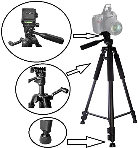 60 Pro Duty Tripod with Case for Sony Alpha a6400 ILCE-6400