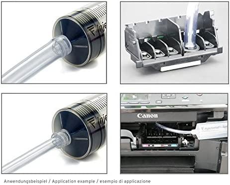 Limpiador de boquillas de 1000 ml, limpiador de cabezales de impresión para cabezales de impresión Canon Pixma con adaptadores de manguera