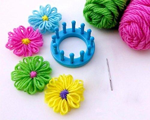 Daisy Knit Hat - Zetti Flower Loom Knitting Circle Needle Crafts Textile Set of 6