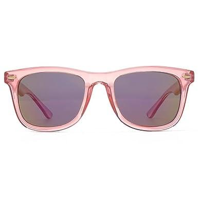 c62cf50066ae M:UK Brixton Wayfarer Style Sunglasses in Crystal Pink MUK147831: Amazon.co. uk: Clothing