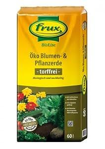 frux BIOLINE Certificado de flores y plantas tierra torffrei, 60L