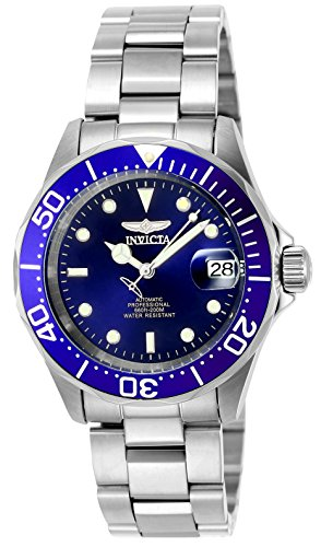 Invicta Men's 9094 Pro Diver Collection Stainless Steel Automatic Dress Watch with Link - Pro Blue Watch