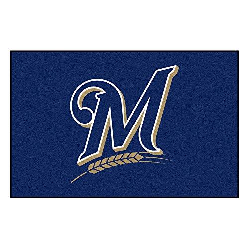 FANMATS MLB Milwaukee Brewers Nylon Face Starter Rug