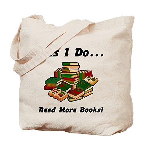 CafePress–Più libri. Borsa di tela, colore naturale, panno borsa per la spesa