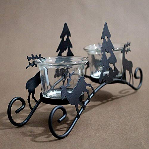 Candle Holders - 1 Piece Retro Iron Candle Holders Christmas Tree Deer Carriage Candlestick Bar Home Decoration With - By Animal Body On Tiny Elephant 20 Novelty Crystal Gifts