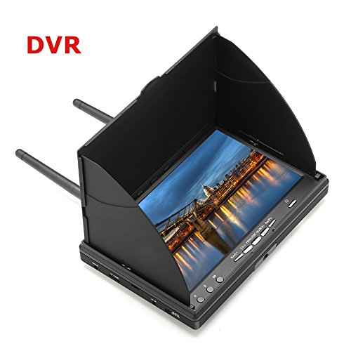Qiyun LCD5802D 5802 5.8G 40CH 7 Inch FPV Monitor with DVR Build-in Battery