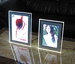 A4 Single Sided Countertop Crystal Led Light Boxes for Cafe,hotel,receiption,real Estate Agents