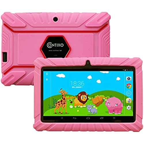 Contixo LA703-KIDS-2 7-Inch 8GB Kids Tablet Bundle with Kids-Place Parental Control and Kid-Proof Case (Pink) Coupons