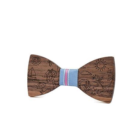 Yiph-Tie Lazo Ocio Corbata de Lazo de Madera para niños Niño ...