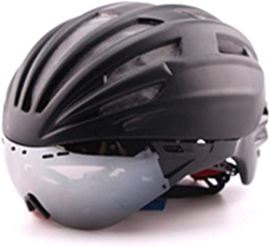 Casco para Bicicleta Ultralight Road Racing Fast Aero Casco Gafas ...