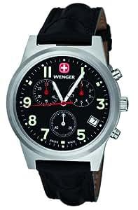 Wenger 72955W.XL - Reloj de caballero de cuarzo, correa de piel color negro