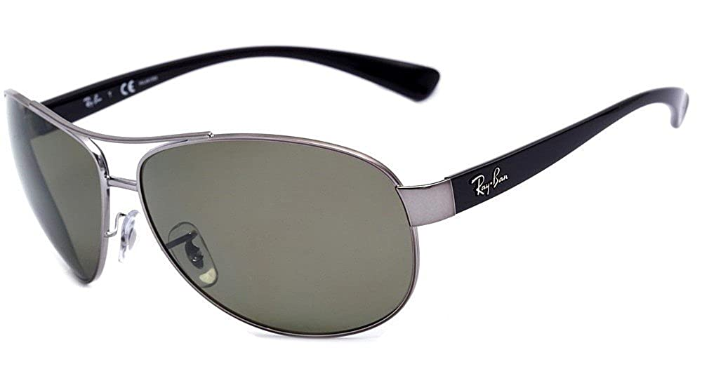 e767e449a3a Amazon.com  Ray Ban RB3386 004 9A 67mm Gunmetal Polarized Green Sunglasses  Bundle-2 Items  Shoes