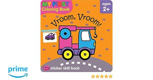 Vroom, Vroom! (My First Coloring Book): Jusu Flintas: 9781601598806 ...