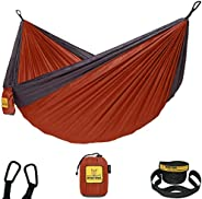 Wise Owl Outfitters Hammock Camping Double & Single with Tree Straps - USA Based Hammocks Brand Gear, Indo