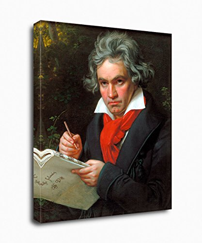 - PrintFactory Canvases Beethoven Portrait Premium Wall Canvas Art Print Famous and Inspirational People Collection for Room, Kitchen and Living Room Decoration 24x30