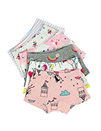 Closecret Kids Series Little Girls' Cotton Boyshort Panties (Pack of 6)