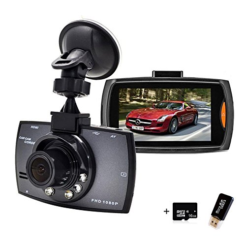 Dash Cam, Samjat FHD 1080P 140 Wide Angle Dash Camera for Cars DVR Vehicle Dashboard Camera Recorder with 16GB SD Card 2.7