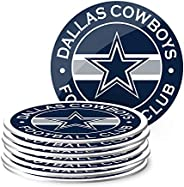 NFL Eight Pack Stripe Coasters (Dallas Cowboys)