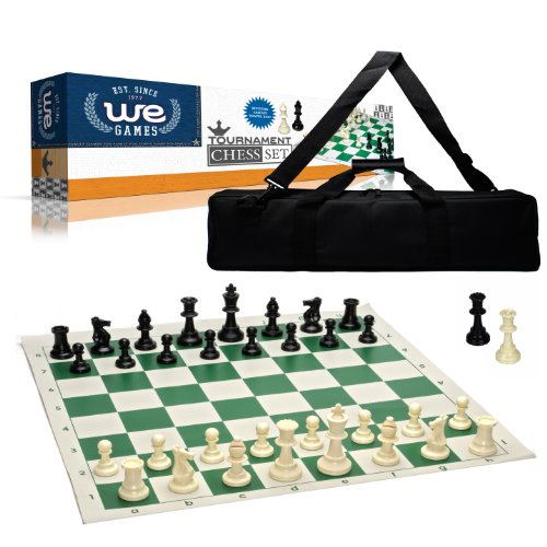 (Wood Expressions Tournament Chess Set with Canvas Bag - 3 3/4