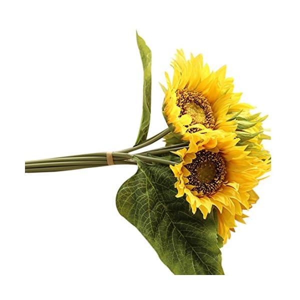 LINGERY-Fake-Silk-Artificial-7-Heads-Sunflower-Flower-Bouquet-Floral-Wedding-Garden-Home-Decor