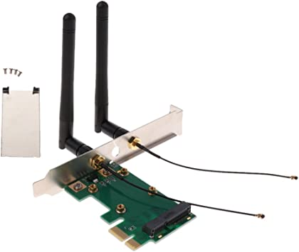 Baoblaze Tarjeta Ethernet Mini Ethernet PCI-E inalámbrica a ...