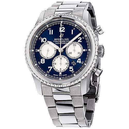 Breitling Navitimer 8 B01 Chronograph 43 Blue Dial Mens Watch (Ref # AB0117131C1A1)