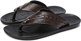 SHOESDQ Baskets pour Hommes en Plein air, Chaussures de Plage en Cuir décontractées, Chaussures antidérapantes