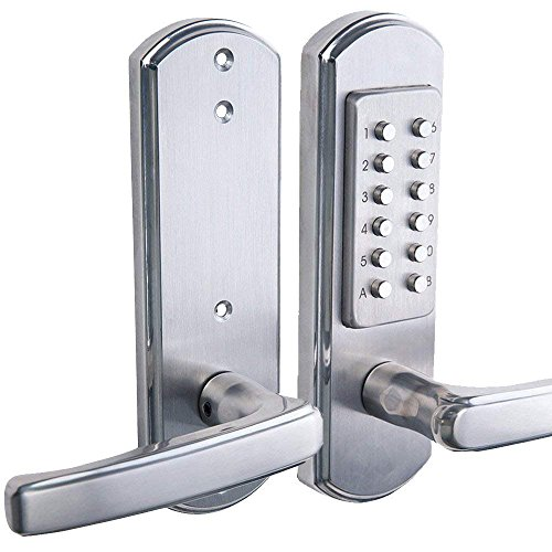 Elemake Right Handed Keyless Entry Lock Door Keypad Mechanical Security - Upgrade (Not Deadbolt,Only for Single Borehole Door, Borehole Smaller Than Dia. 2-1/8