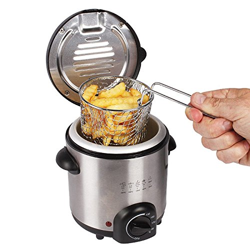 0.5L Stainless Steel Compact Mini Deep Fat Fryer (600W)
