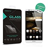 Huawei Ascend Mate 7 Screen Protector, Hapurs 0.2mm Ultra Thin 2.5D Round Edge Tempered Glass Premium High Definition (HD) Clear Screen Protector for Huawei Ascend Mate 7 - Anti- Scratch / Shatterproof / Water & Oil Resistant / Maximum Clarity / Touchscreen Accuracy / Bubble free and Industry-High 9H Hardness