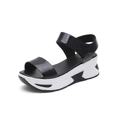 019bbe4a73 Image Unavailable. Image not available for. Color: MEIZOKEN Women's  Flatform Sandals ...