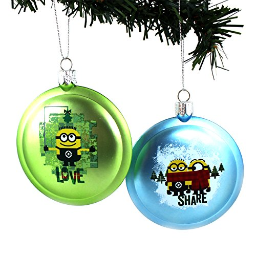 despicable-me-minions-kurt-adler-ornament-gift-boxed-share-love-green-blue