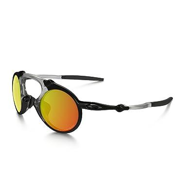 oakley sunglasses amazon  oakley men's madman oo6019 04 polarized iridium round sunglasses, dark carbon,