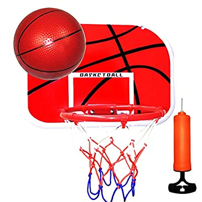 Chezaa Mini Basketball Hoop Over The Door Kids Mini Hoop Backboard Folding Portable & Free Punch for Indoor Outdoor Sports Exercise with Ball Pump Accessories Game Set : Sports & Outdoors