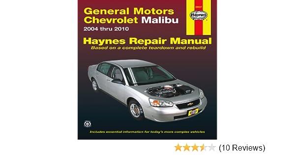 general motors chevrolet malibu 2004 thru 2010 hayne s automotive rh amazon com Chevy Owner's Manual Pouch Chevy Owner's Manual Pouch