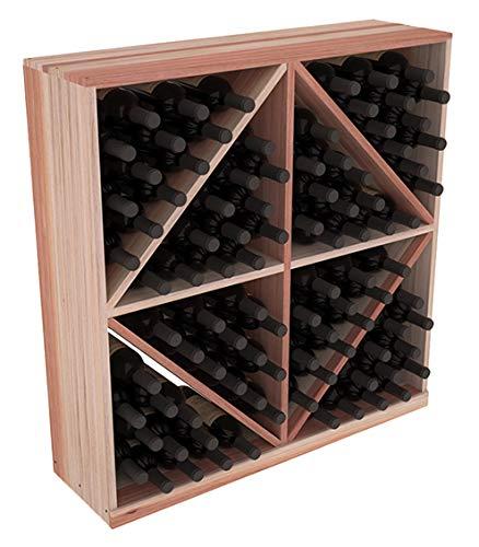(Wine Racks America Redwood 96 Bottle Solid Diamond Bin. Unstained)