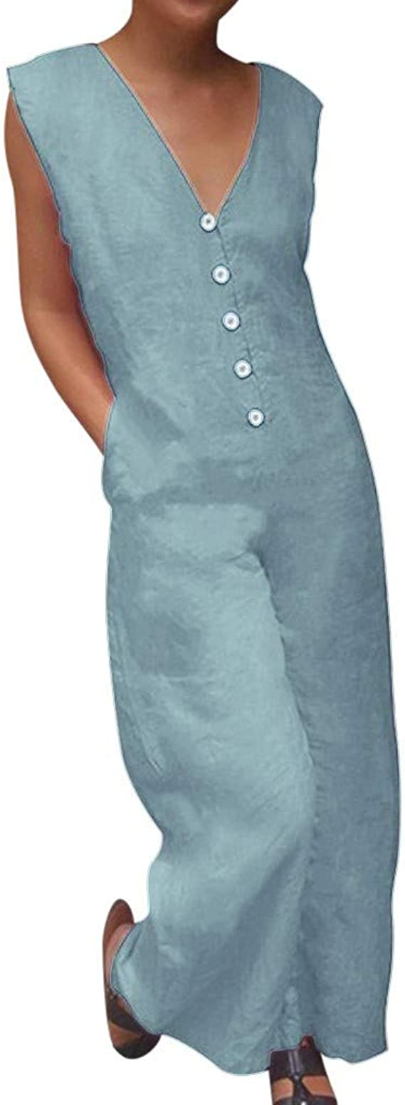 MoneRffi Damen Latzhose Jumpsuit Retro Overalls Lange Wide Leg Hosen Sommer Lose Bib Hose Lange Baggy Sommerhose Blumen Playsuit Romper